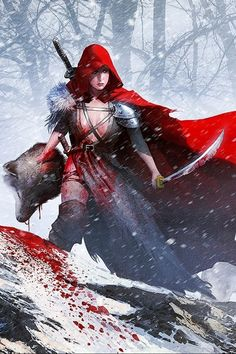 New fantasy art women warriors outfit 22 Ideas Fantasy Art Women, New Fantasy, Fantasy Girl, Dark Fantasy, Red Riding Hood Wolf, Character Inspiration, Character Design, Werewolf Hunter, Dibujos Tumblr A Color