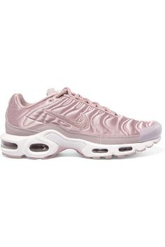 NIKE Air Max Plus Leather-Trimmed Matelassé Satin Sneakers. #nike #shoes #sneakers