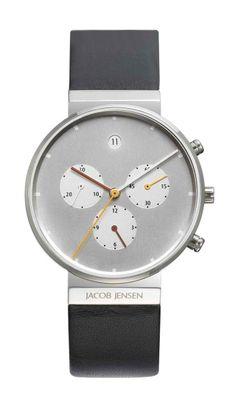Jacob Jensen Gents Chronograph 606 visit shopbalthazar.com