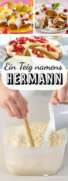 Put on Hermann dough, care for it properly and bake it DELICIOUS - The cult cake batter is back! The cult cake batter is back! The cult cake batter is back! All Recipes Cookies, Cupcake Recipes, Cupcake Cakes, Dessert Bread, Sweet Bread, No Bake Desserts, Bread Baking, No Bake Cake, Food Cakes