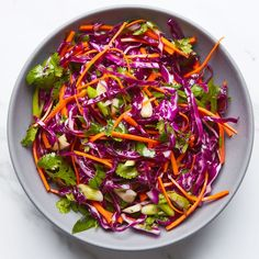Red Cabbage Slaw With Cilantro and Citrus Cabbage Slaw, Red Cabbage, Broccoli Slaw Recipes, Cabbage Recipes, Salad Recipes, Citrus Recipes, Mexican Food Recipes, Summer Recipes, Recipes