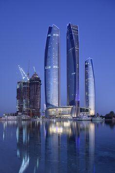 Etihad Towers, Abu Dhabi, United Arab Emirates... My dad says it's lame, but I need to go anyways!