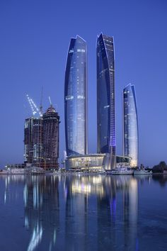 Etihad Towers, Abu Dhabi, United Arab Emirates... My dad says it's lame, but I need to go anyways!