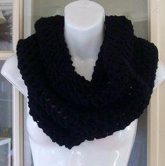 Black cowl scarf neckwarmer other colors by MatsonDesignStudio, $21.00