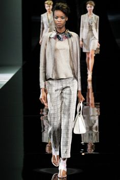 Giorgio Armani Spring 2014 Ready-to-Wear Fashion Show - Maria Borges #ArmaniSilos #daywear