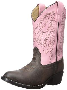 Buy Mountain Childrens Monterey Western Cowboy Boots - Brown/Pink - and more discount Girls' Boots enjoy up to off, fast shipping. Boys Winter Boots, Kids Boots, Western Cowboy, Western Boots, Cowboy Shoes, Cowboy Boot, Girls Shoes Online, Cute Boots, Training Shoes