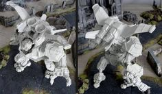 Preview of upcoming attachment for Prime Battle Walker - Prime Wing pack. Share with us your ideas of further attachments, please. We may even produce some of them:)  #PuppetsWar #preview #Prime #Walker #resin #28mm #scale #PuppetsWar #mech #robot #miniature #figure #wargaming #bits
