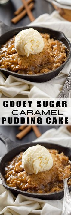 This Sugar Cookie Caramel Pudding Cake is a warm, sugar cookie cake sitting on top of a layer of gooey caramel! An irresistible and easy dessert!