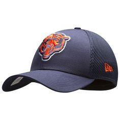 14d32bc1f002f Chicago Bears Navy Angry Bear Face Neo Flex Fit Hat