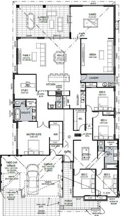 House Layout Plans, Family House Plans, Best House Plans, Bedroom House Plans, Dream House Plans, Small House Plans, House Layouts, House Floor Plans, Home Design Floor Plans