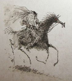 Headless Horseman (Sleepy Hollow) sketch by Tim Burton, this has to be one of my favourite films c: Estilo Tim Burton, Tim Burton Style, Tim Burton Films, Sleepy Hollow Tim Burton, Legend Of Sleepy Hollow, Tim Burton Sketches, Tim Burton Artwork, Maleficarum, Hollow Art