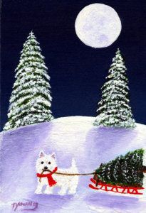 Painting - Christmas Tree by Todd Young
