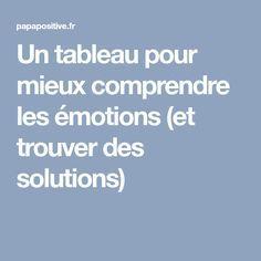 Un tableau pour mieux comprendre les émotions (et trouver des solutions)