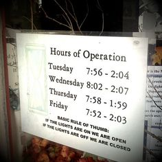 This opening hours sign give you a shortcut at the bottom. http://www.phorest.com/blog/2015/02/22/unique-salon-opening-hours-signs-around/ #LetsGrow #Salon #Salons #SalonSoftware #OpeningHours #OpeningHoursSigns #SalonOpeningHours #SalonOwners #SalonOwner