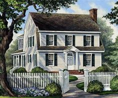 Colonial Home For Narrow Lot