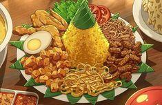 Cute Snacks, Cute Food, Yummy Food, Food N, Food And Drink, Anime Bento, Food Graphic Design, Food Sketch, Food Cartoon
