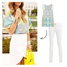 Get The Look: Blusa estampa escamas & rendas da MOB, cliente Mix&Match! ---> www.mobonline.com.br