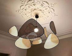 Suspension Diy Luminaire, Deco Luminaire, Dining Room Inspiration, Interior Inspiration, Rattan Pendant Light, Decoration Originale, Lamp Design, Art Decor, Home Decor