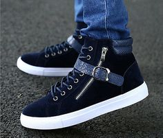 NEW Spring Autumn High Men's Casual Shoes Fashion Boots Street Sneakers   eBay