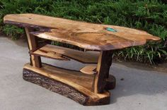Custom Live Edge Coffee Table by Natures Knots Custom Furniture .