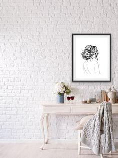 Line Drawing, Line Art, Minimalist, Colours, Bride, Create, Modern, Collection, Design