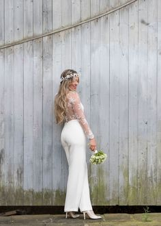 A bridal jumpsuit is the perfect alternative for brides looking for something different to the traditional wedding dress. Instead of trousers, why not opt for an elegant jumpsuit by House of Ollichon; Luxury bridal jumpsuits and separates for the dress-less wedding. Shop now at http://houseofollichon.co.uk/shop/ #bridaljumpsuit #bridalwear #jumpsuit #bridetobe #alternativeweddingdress
