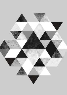 Graphic 202 Black and White Art Print, geometric triangle pattern, triangles… Black And White Posters, Black And White Frames, Black White, White Framed Art, White Art, Art Turquoise, Art Blanc, Art Encadrée, Kalender Design