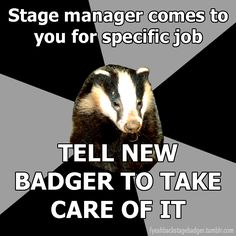 Backstage Badger (theatre techies) Cleaning brushes