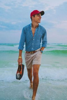 Mens Summer Hats, Summer Wear, Summer Time, Best Mens Fashion, Office Wear, Southern Prep, Style, What To Wear, Men Casual
