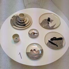 By Czech ceramist Markéta Držmíšková Decorative Plates, Pottery, Clay, Tableware, Home Decor, Ceramica, Clays, Dinnerware, Decoration Home