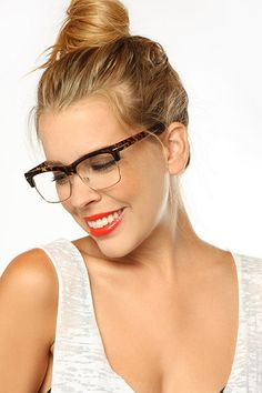 3531979377  Eden  Unisex Clear Clubmaster Glasses - Black  5428-1 Girls With Glasses