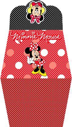 Minnie en Rojo: Bolso de Papel - Invitación para Imprimir Gratis.