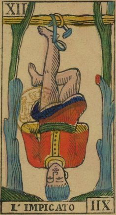 XII. The Hanged Man: Ancient Tarot of Liguria-Piedmont