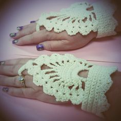 Crochet Hand Ornament by NellsCrochet on Etsy