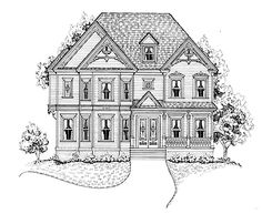Four Bedroom Victorian Eclectic (HWBDO63356) | Victorian House Plan from BuilderHousePlans.com