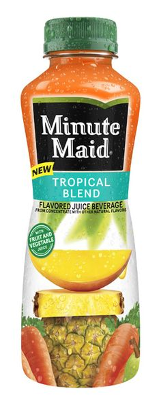 YUMMY!!!!    Minute Maid Tropical Blend is made with carrot, pear, mango, and pineapple juices.