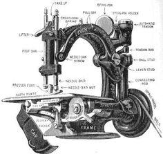 Antique, Wilcox & Gibbs sewing machine diagram
