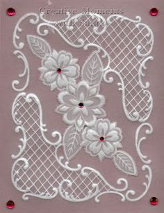 Creative Moments With Sandy: Parchment Craft class samples Machine Embroidery Designs, Embroidery Patterns, Vellum Crafts, Parchment Design, Parchment Cards, Card Patterns, Copics, Ribbon Embroidery, Paper Cards