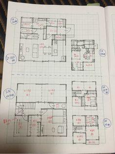 玄関土間続きのファミリークローク&パントリーがある30坪 Japanese House, Architecture Plan, House Floor Plans, New Homes, House Design, Flooring, How To Plan, Interior Design, Home Decor
