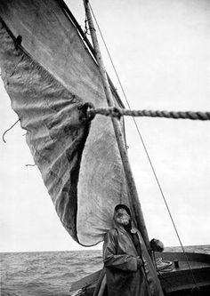 Breton Fisherman, 1961. Edouard Boubat. Gravure print.