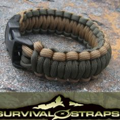 Survival StrapsTM are the original, U.S. made survival bracelet. They are hand-constructed from approximately 16 FEET of Seven-Strand, 550 pound test heavy-duty military specification parachute cord. They contain approximately 1.75 of parachute cord for every inch (wrist size) ordered.     That means that 16 Feet of seven strands, plus the shell, equals about 128 FEET of high-grade nylon cord immediately available for a wide variety of tasks when the inner strands are removed.