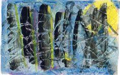 "James Feely, ""The Gathering"" - mixed media, 9.5"" x 7.5"" on ArtStack #james-feely #art"