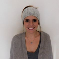 A personal favorite from my Etsy shop, the crocheted headband/ear warmer! Perfect for those chilly days. It can be worn like shown in the picture, or turned with the button on the side of your head. So many color options available!   Mackenzie Makes
