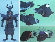 Samurai Jack gets with the times in the fifth and final season. The samurai was thrown into the far-flung future by a demon named Aku, who conquered the world in his absence. Now the man out time finally embraces technology including weapons like a motorcycle sporting guns. http://l7world.com/2016/08/new-samurai-jack-armor-motorcycle-gun.html