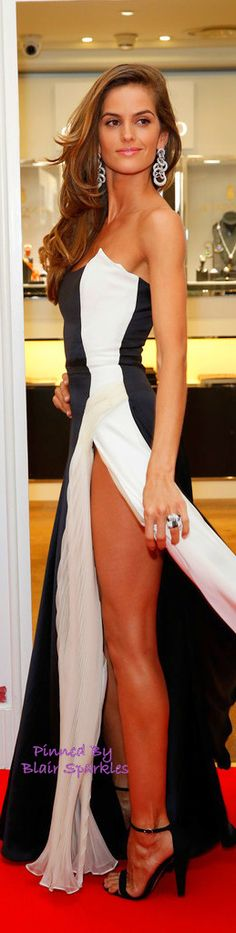 Isabel Goulart ~ appears with dizzying slit in ~ Cannes Film Festival May 2015