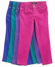 Great colors! Jessica Simpson Kids Jeans, Little Girls Glitter Color Denim Jeans - Kids Girls 2-6X - Macy's $26.00 #MacysBTS