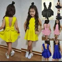 Buy Party Dress Princess Flower Dress Baby & Toddler Clothing 4 Colors Mini Dress In Blue Black and Yellow Party Dress Flower Girls Mini Dresses at Wish - Shopping Made Fun Little Girl Fashion, Little Girl Dresses, Kids Fashion, Flower Girl Dresses, Flower Girls, Fashion Spring, Asian Fashion, Yellow Party Dresses, Toddler Girl Outfits