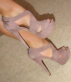 open toed shoe in nude beige(: