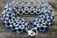 Blue Lace Bracelet Lace Bracelet, Bracelets, Blue Lace, Pattern, How To Make, Crafts, Etsy, Jewelry, Bangles