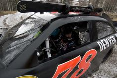National and world tour freeskiing champion Jess McMillan caught a lift to Telluride in the No.78 Furniture Row Chevrolet race car!